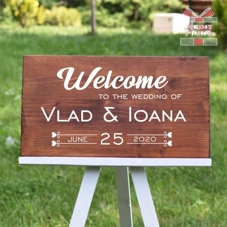 """Plăcuță Întâmpinare """"Welcome"""" Personalizată PN460"""