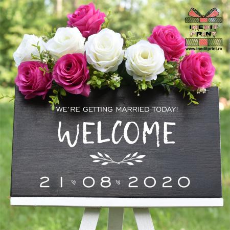 """Plăcuță Întâmpinare """"Welcome"""" Personalizată PN483"""