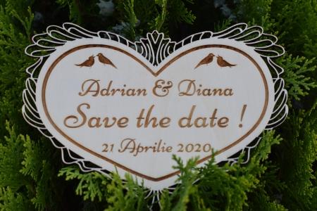 Placuta personalizata Save The Date STD 10