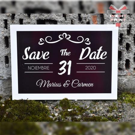 Placuta personalizata Save The Date STD 41