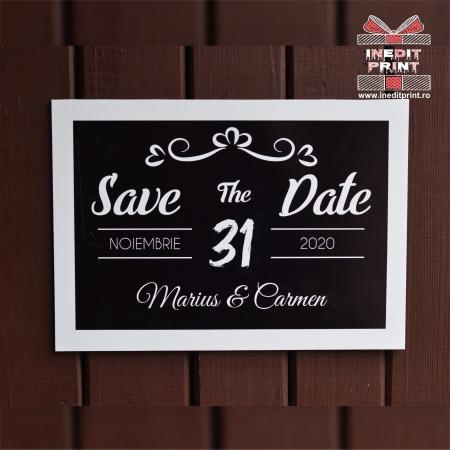 Placuta personalizata Save The Date STD 42