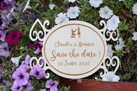 Placuta personalizata Save The Date STD 23