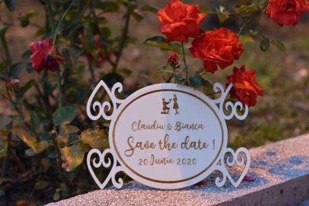 Placuta personalizata Save The Date STD 21