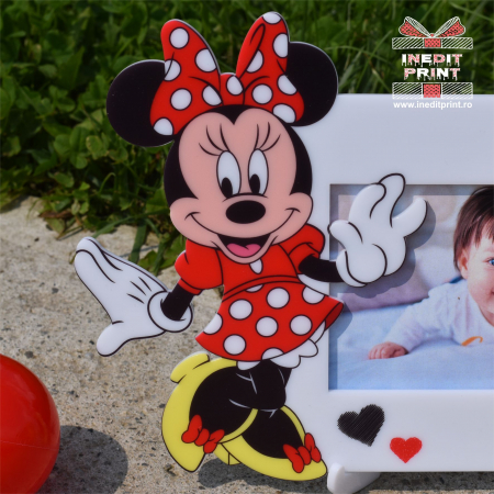 Ramă foto personalizată Minnie Red RFP31
