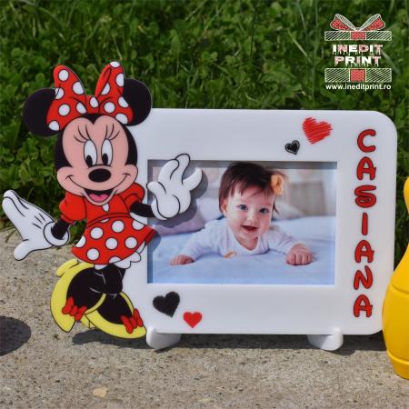 Ramă foto personalizată Minnie Red RFP30
