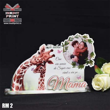 """Ramă foto personalizată """"Te iubesc mama"""" RM21"""
