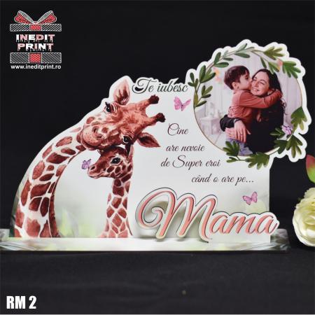 """Ramă foto personalizată """"Te iubesc mama"""" RM20"""