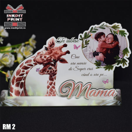"""Ramă foto personalizată """"Te iubesc mama"""" RM23"""