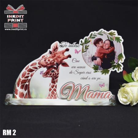 """Ramă foto personalizată """"Te iubesc mama"""" RM22"""