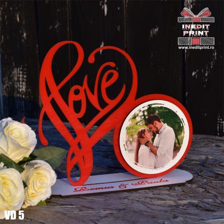 Rama foto personalizata LOVE VD50