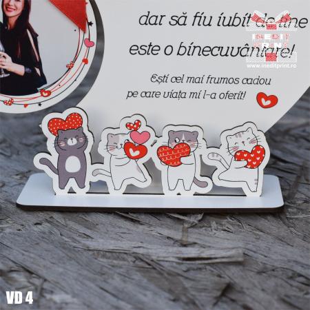 Rama foto personalizata Pisicutele iubarete VD43