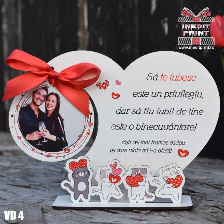 Rama foto personalizata Pisicutele iubarete VD40