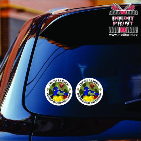 Set de Stickere Auto LMP MODEL NOU - Asociația Liga Militarilor Profesioniști [1]