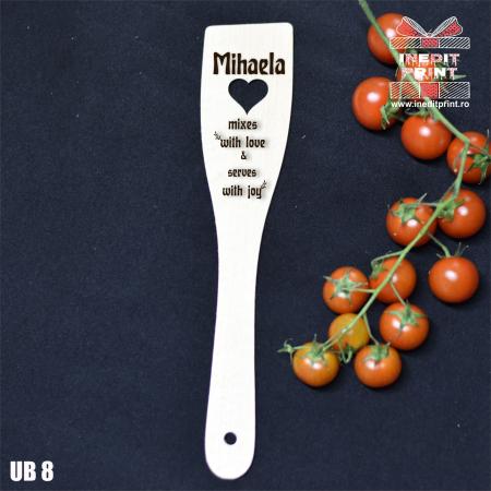 Spatulă cu inimă  personalizată  With love UB80