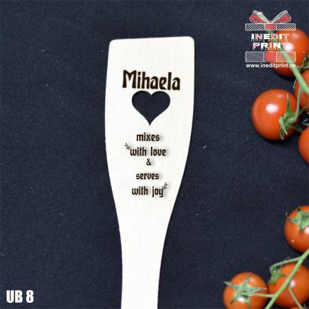Spatulă cu inimă  personalizată  With love UB81