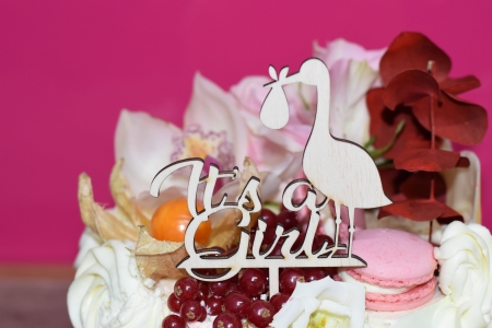 Topper Personalizat It`s a girl TC131