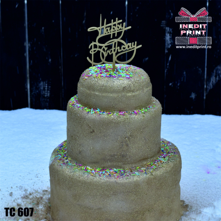 Topper tort Happy Birthday TC6072