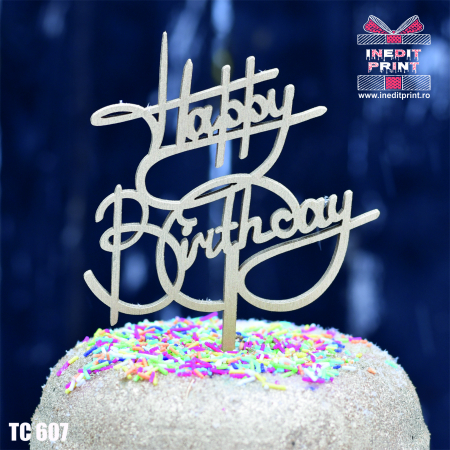 Topper tort Happy Birthday TC6070
