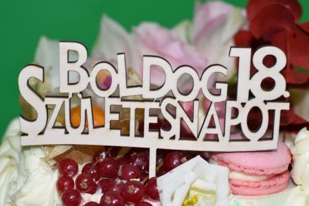 Topper Tort Personalizat  Boldog Szuletesnapot TC110