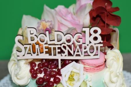 Topper Tort Personalizat  Boldog Szuletesnapot TC111