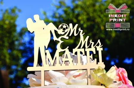 Topper Tort Personalizat Mr&Mrs TC109 [0]