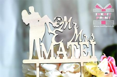 Topper Tort Personalizat Mr&Mrs TC109 [4]