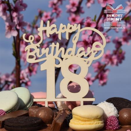 Topper tort Personalizat Happy Birthday TC2211