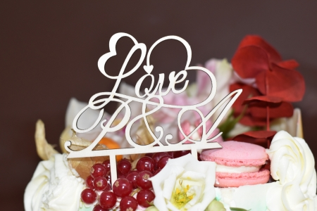 Topper Tort Personalizat  Love TC71