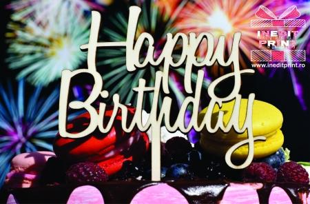 Topper Tort  Happy Birthday TC1541