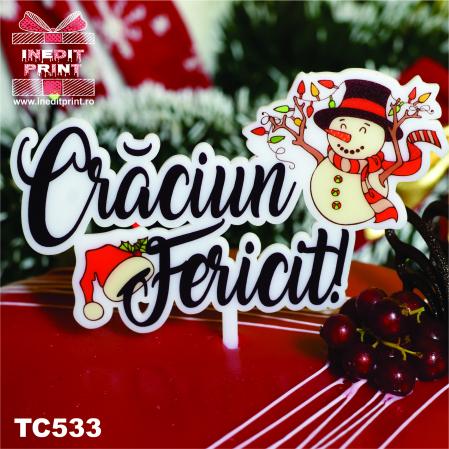 "Topper Tort UV ""Crăciun fericit "" TC5332"