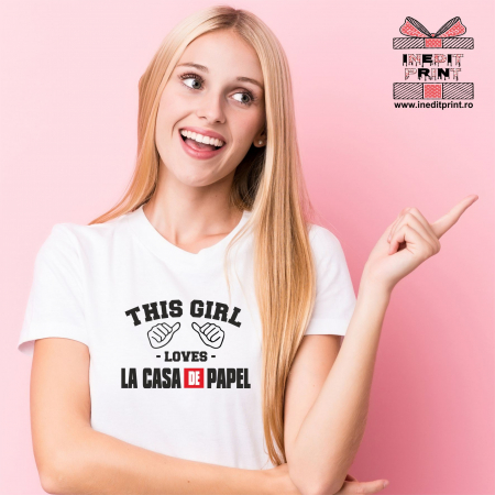 Tricou Loves La Casa de Papel TP100