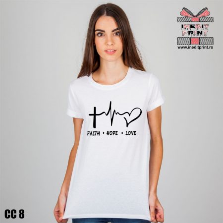 Tricou Faith Hope Love CC80