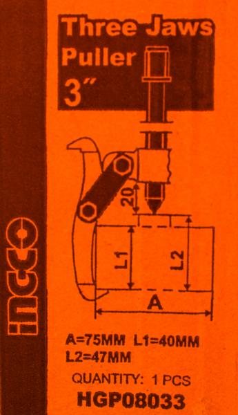 Extractor rulment 3'' cu 3 gheare 3000Kg [1]