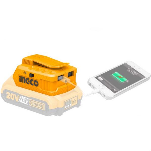 Adaptor, incarcator pentru incarcarea telefoanelor, tabletelor - INGCO CUCLI2001 0