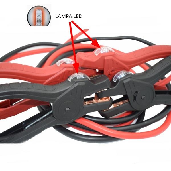 Cablu pornire 600 A cu LED 1