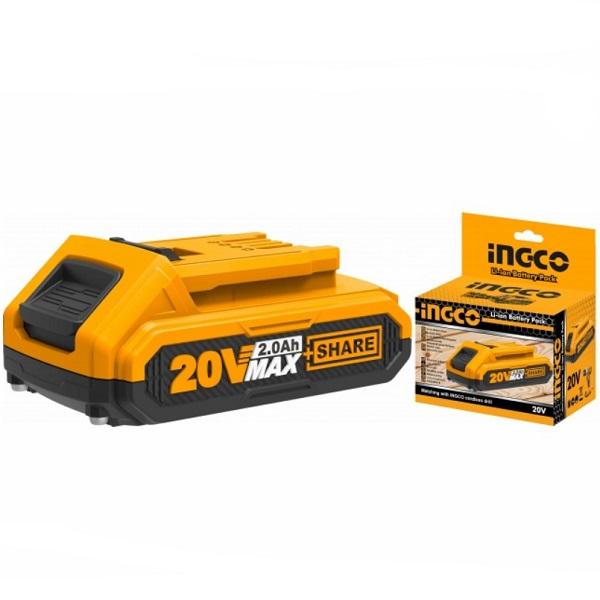 Acumulator, baterie 20V cu 2.0Ah Li-Ion - INGCO  FBLI2001E 0