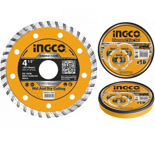 Disc diamantat de taiere continuu, TURBO, 115mm, 125mm, 180mm, 230mm - INGCO 0