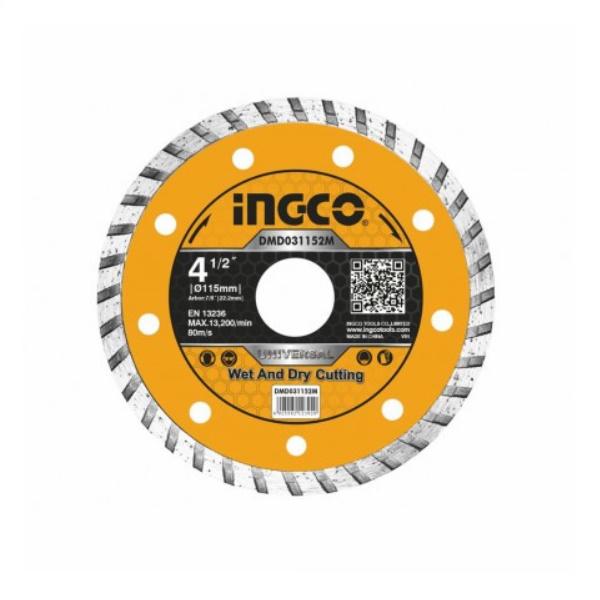 Disc diamantat de taiere continuu, TURBO, 115mm, 125mm, 180mm, 230mm - INGCO 2
