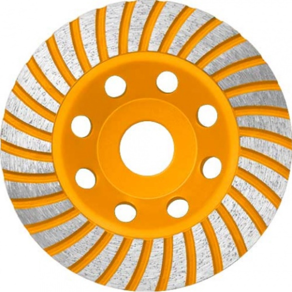 Disc diamantat 115 mm, cu segmente pentru slefuit suprafete beton, mozaic, marmura, Turbo - INGCO  CGW011151 [0]