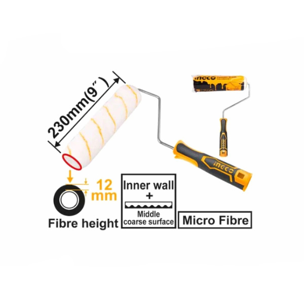 Rola trafalet fibra 230 mm industrial, suprafete fine si medii aspre 1