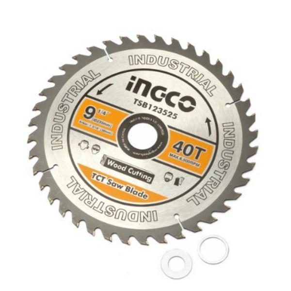 Disc, panza cu vidia, 235mm x 30mm, 40 dinti - INGCO  TSB123525 1