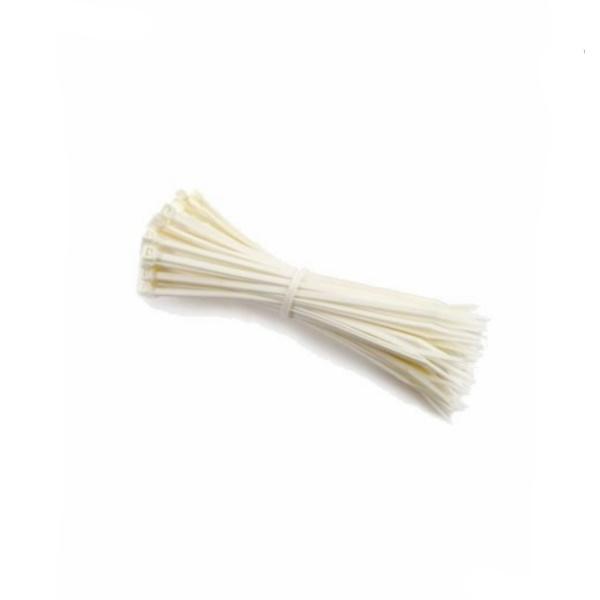 Clema, colier din plastic alb, soricel 3.6 x 200mm 2