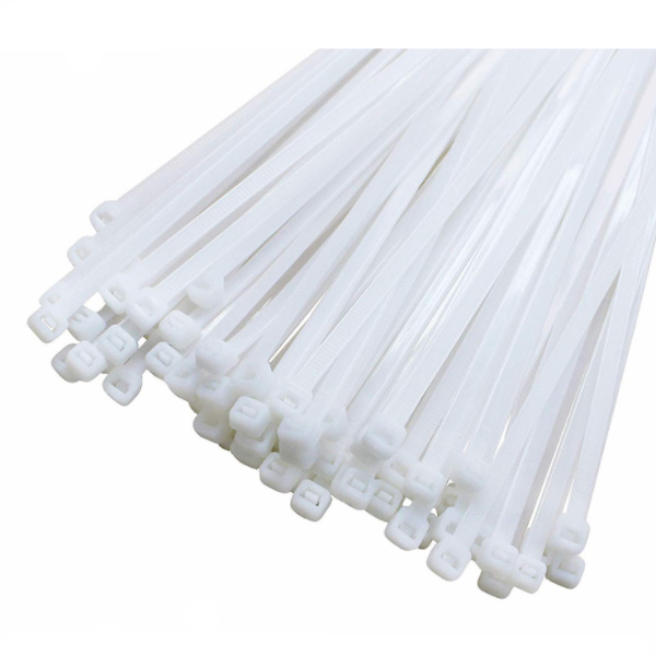Clema, colier din plastic alb, soricel 3.6 x 200mm 5