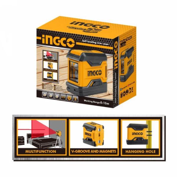 Nivela laser multifunctionala - INGCO  HLL156508 2
