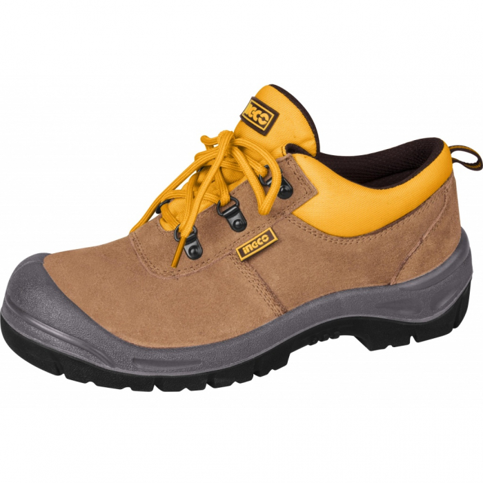 Bocanci tip pantof, de protectie, piele intoarsa, S1P - INGCO SSH01S1P.42 [0]