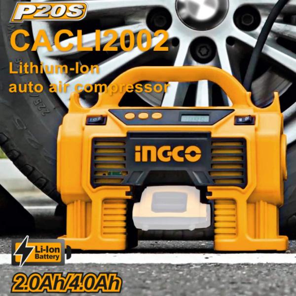 Compresor auto 4 in 1, 11 Bar, LED, lanterna si aspirator - INGCO CACLI2002 1