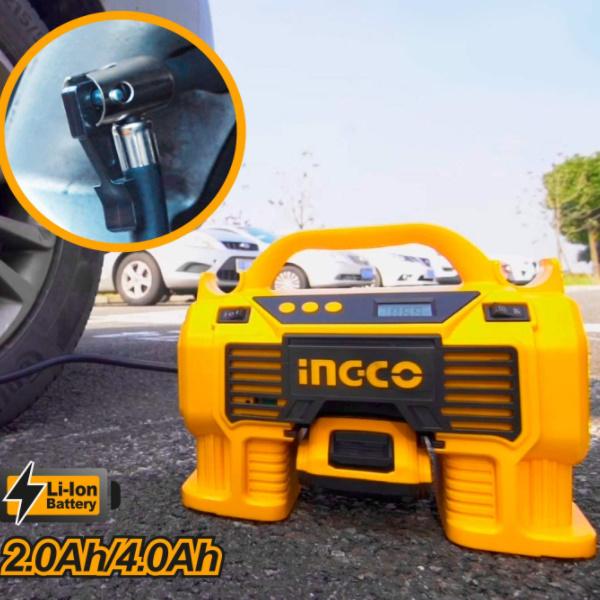 Compresor auto 4 in 1, 11 Bar, LED, lanterna si aspirator - INGCO CACLI2002 3