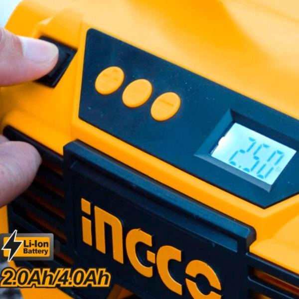 Compresor auto 4 in 1, 11 Bar, LED, lanterna si aspirator - INGCO CACLI2002 2