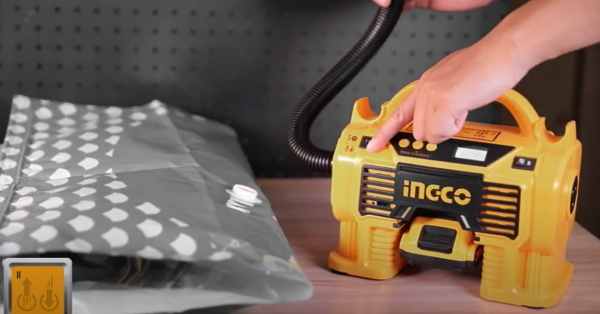 Compresor auto 4 in 1, 11 Bar, LED, lanterna si aspirator - INGCO CACLI2002 [7]