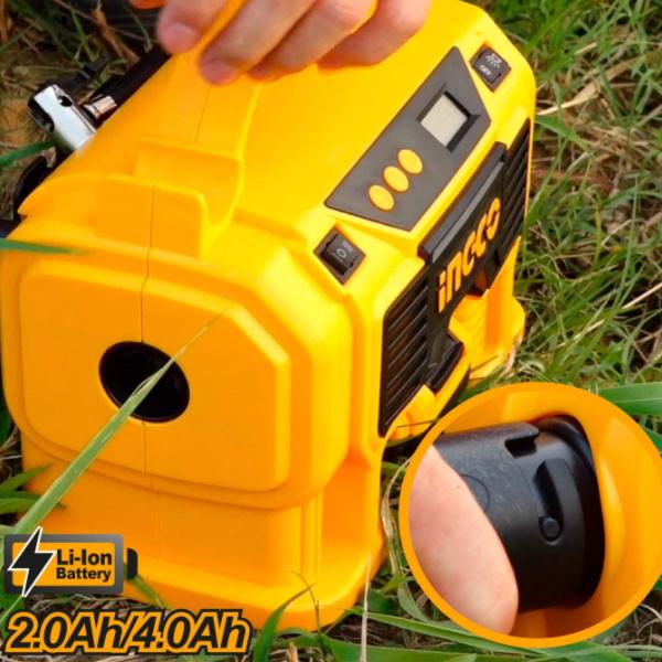 Compresor auto 4 in 1, 11 Bar, LED, lanterna si aspirator - INGCO CACLI2002 4